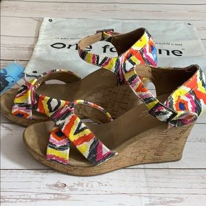 Toms Colorful Aztec Wedges